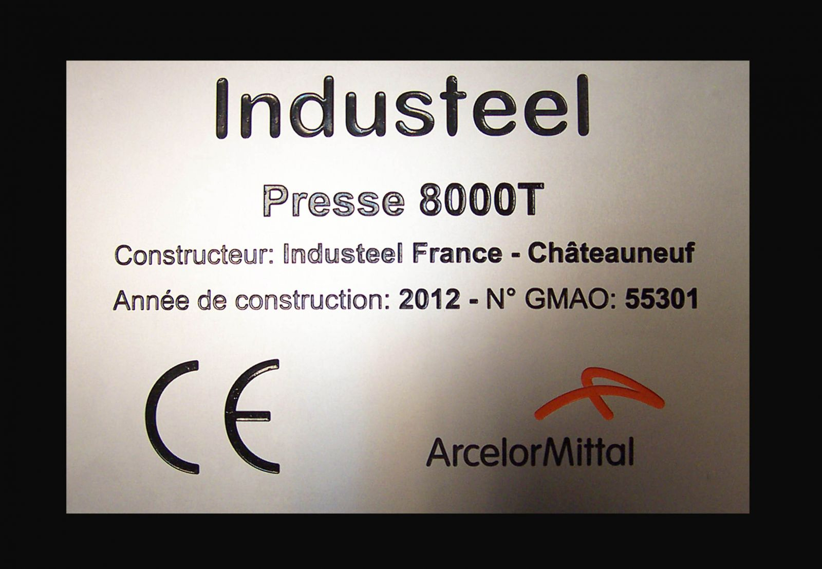 Plaque inox industeel